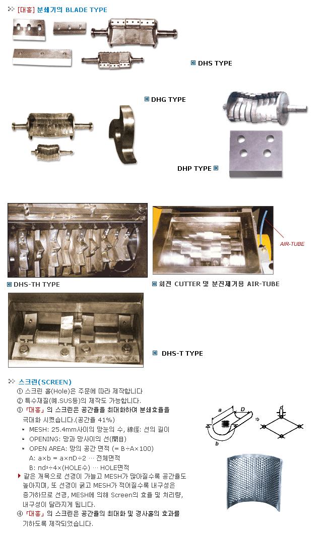대흥정공 분쇄기 부품
