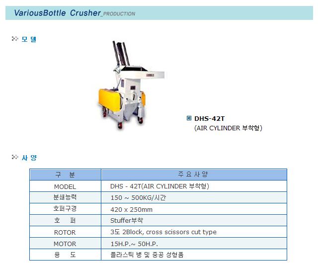 대흥정공 Various Bottle Crusher DHS 42T