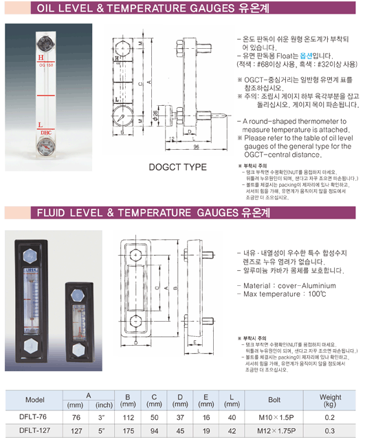 (주)동화기업 유온계 DOGCT, DFLT 1