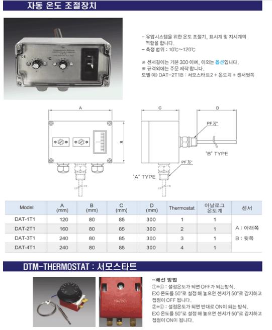 (주)동화기업 자동 온도 조절 장치 / 서모스타트
