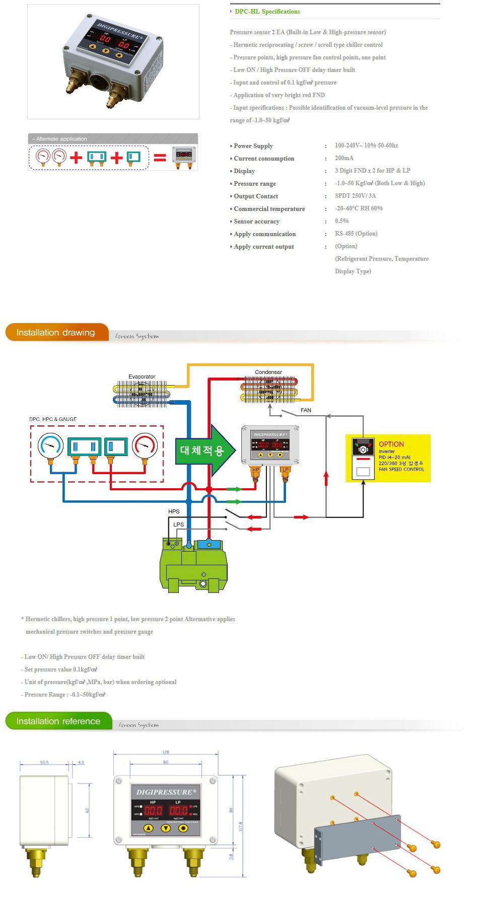 GREEN SYSTEM Digital Pressure DPC-HL