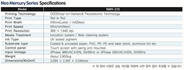 (주)딜리 NEO MERCURY - 디지털 바니쉬 코팅기 NML-210 6