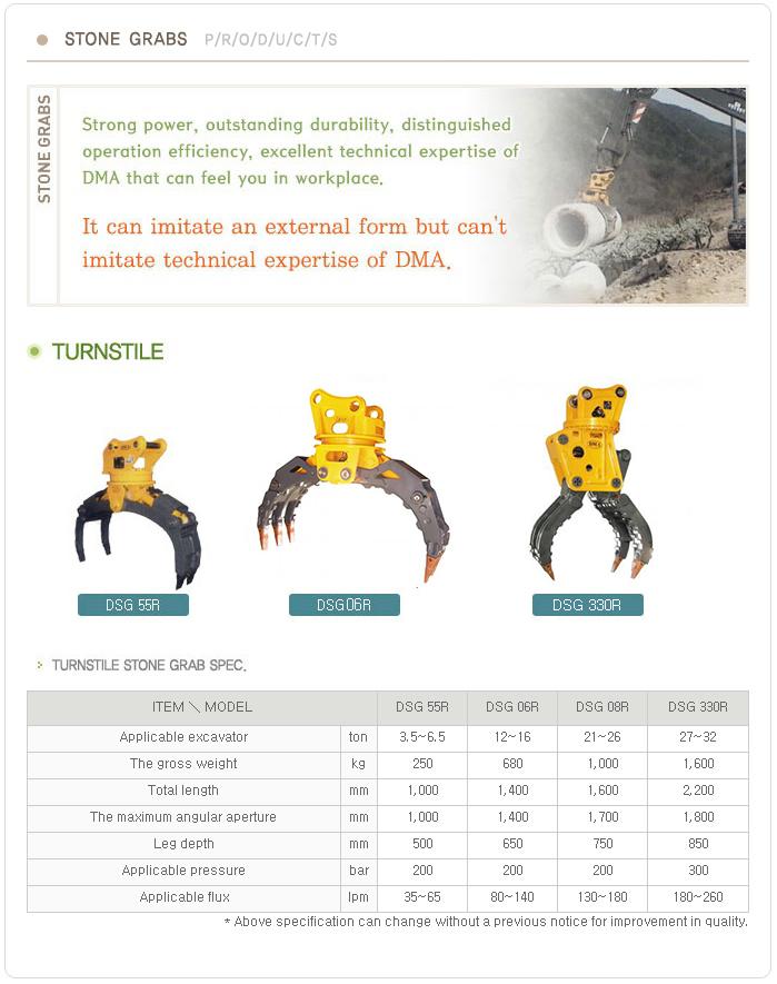 DMA Turnstile Stone Grab DSG R Series