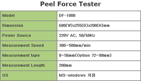 디엔디테크(주) Peel Force Tester  1
