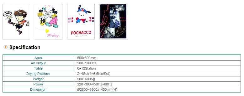 DONGSUNG Semi Auto Screen Printing M/C (8/10/12) DS-8S