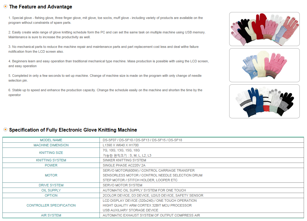 DONGSUNG Fully Electronic Glove Machine