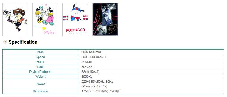 DONGSUNG Full Auto Screen Printing M/C (900x1300) DS-FAV08
