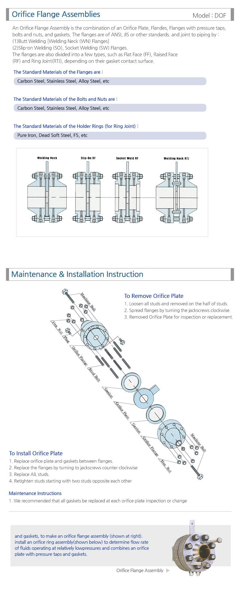 Doyeong Precision Industrial Orifice Flange DOF