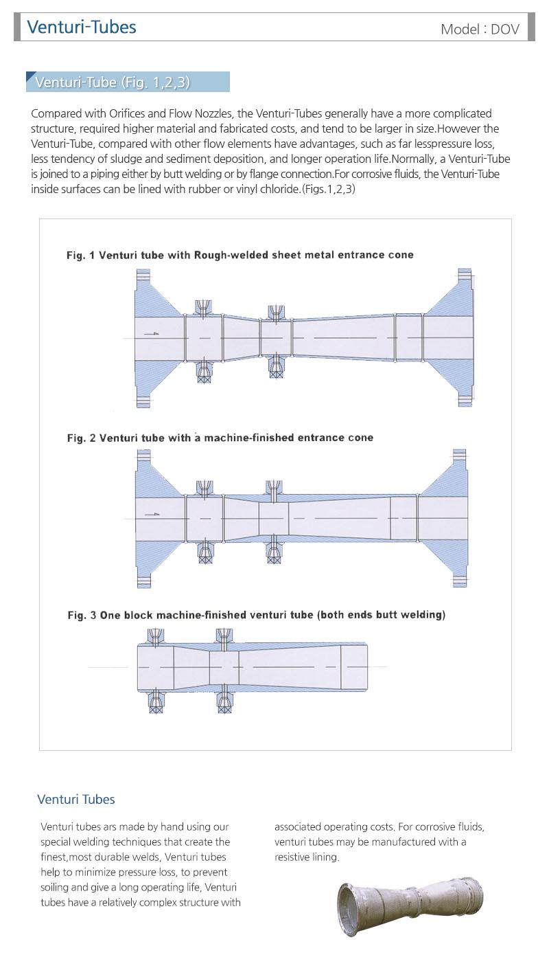 도영정밀(주) Venturi-Tube DOV