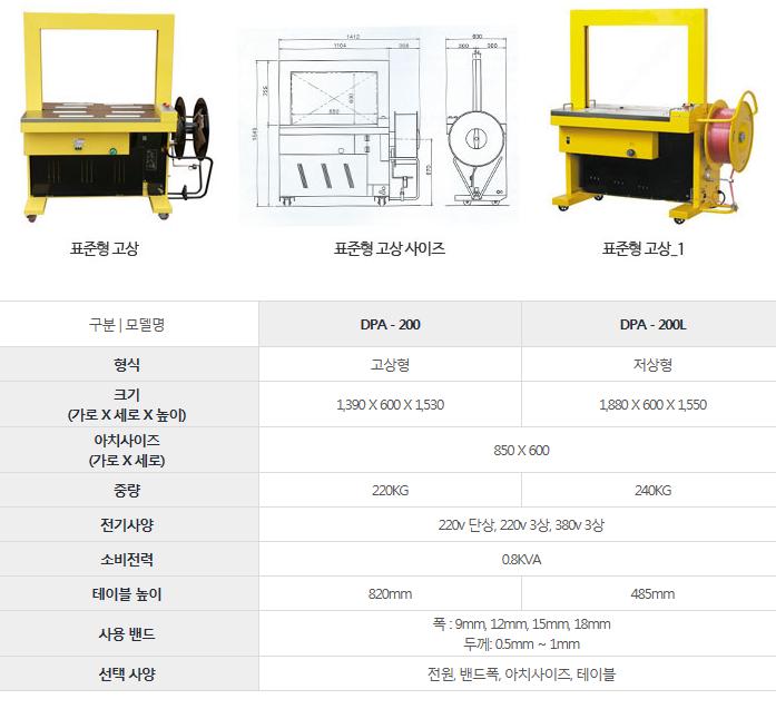 드림포장기계 표준형 고상 DPA-200