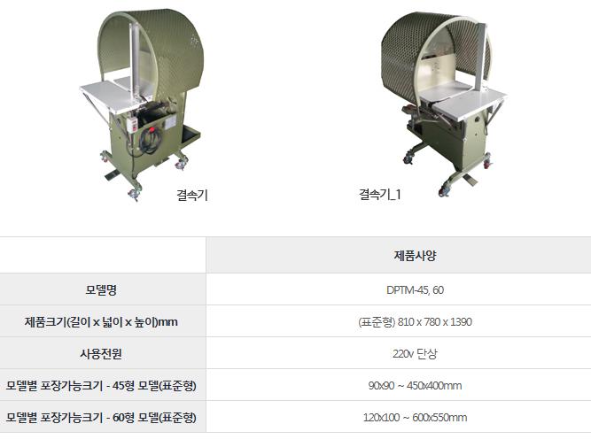 드림포장기계 결속기 DPTM-45, 60