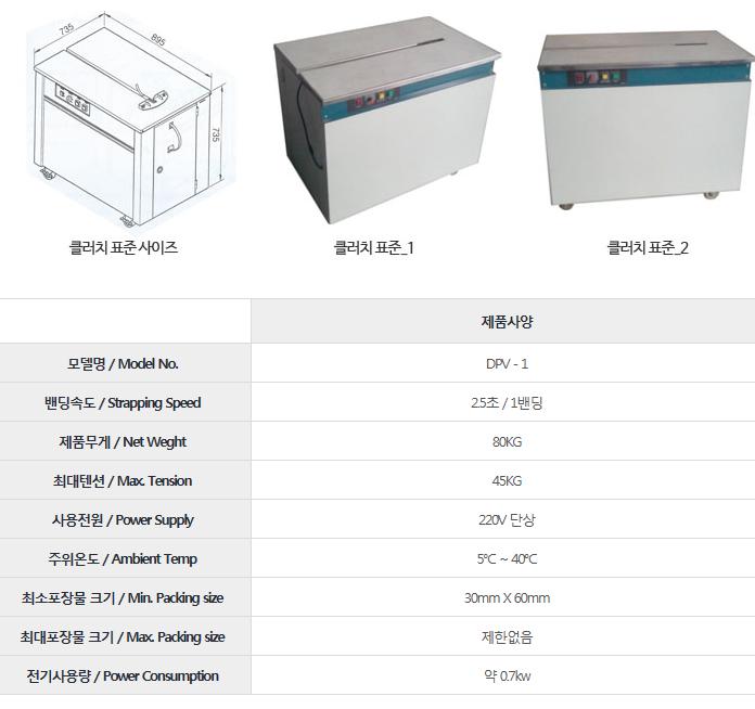드림포장기계 클러치 표준 DPV-1