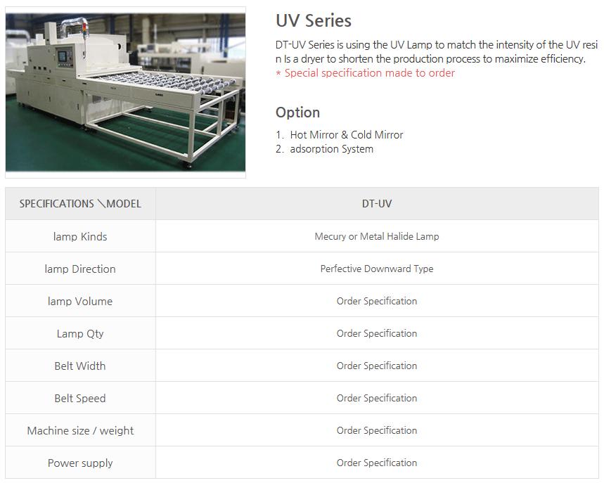 DREAM TECH Convery Dryer UV Series