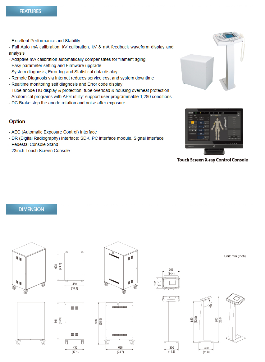 DRGEM Capacitor Assisted High Frequency X-ray Generator GXR-C Series