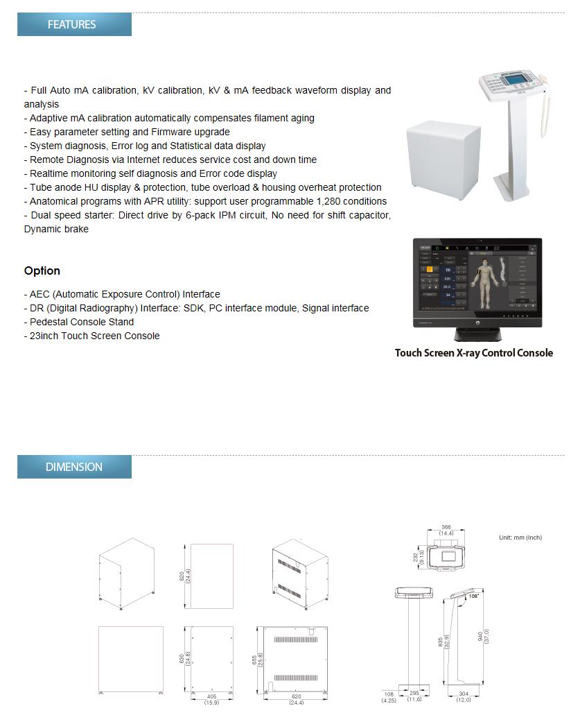 DRGEM High Frequency X-ray Generator GXR Series