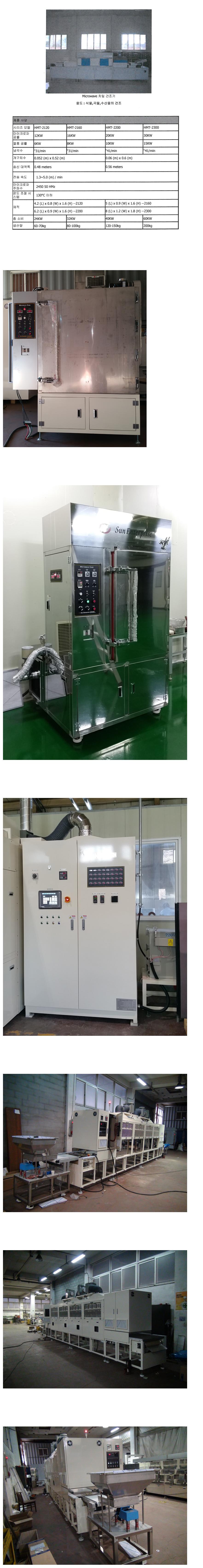 태양기업 Microwave Dry Oven 3단 (식품가공) HMT-2120/2160/2200/2300