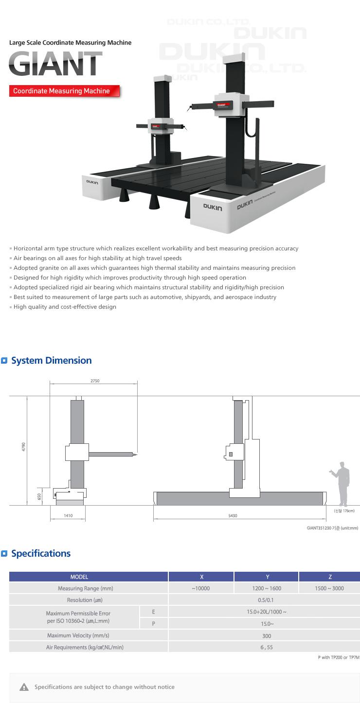 DUCKIN Large Scale Coordinate Measuring Machine GIANT