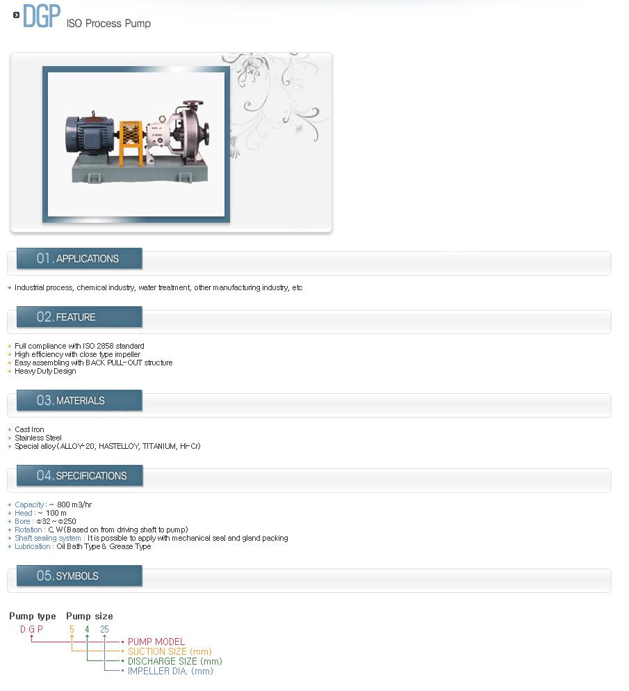DUKJI INDUSTRIAL ISO Process Pump DGP