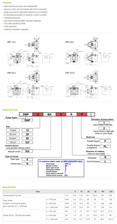 DUT KOREA Metering Pump DMP Series
