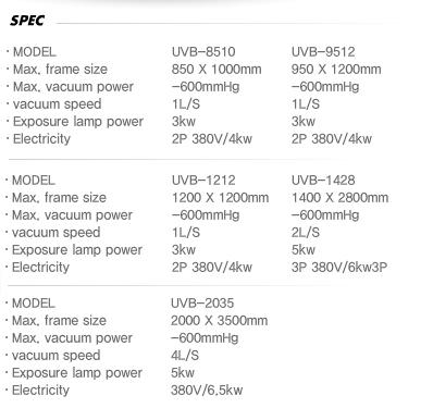 (주)대영테크 인쇄 기계 부가 장비 UVB Series