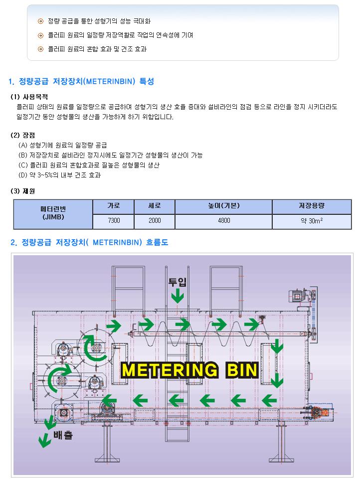 (주)정일기계 정량공급 저장장치 JIMB