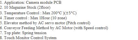 AP-Tech Camera Module PCV Hotplate System