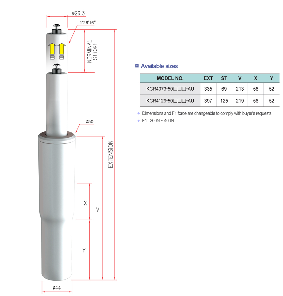 Korea Gas Spring Auto-lift Clean Cylinder  1