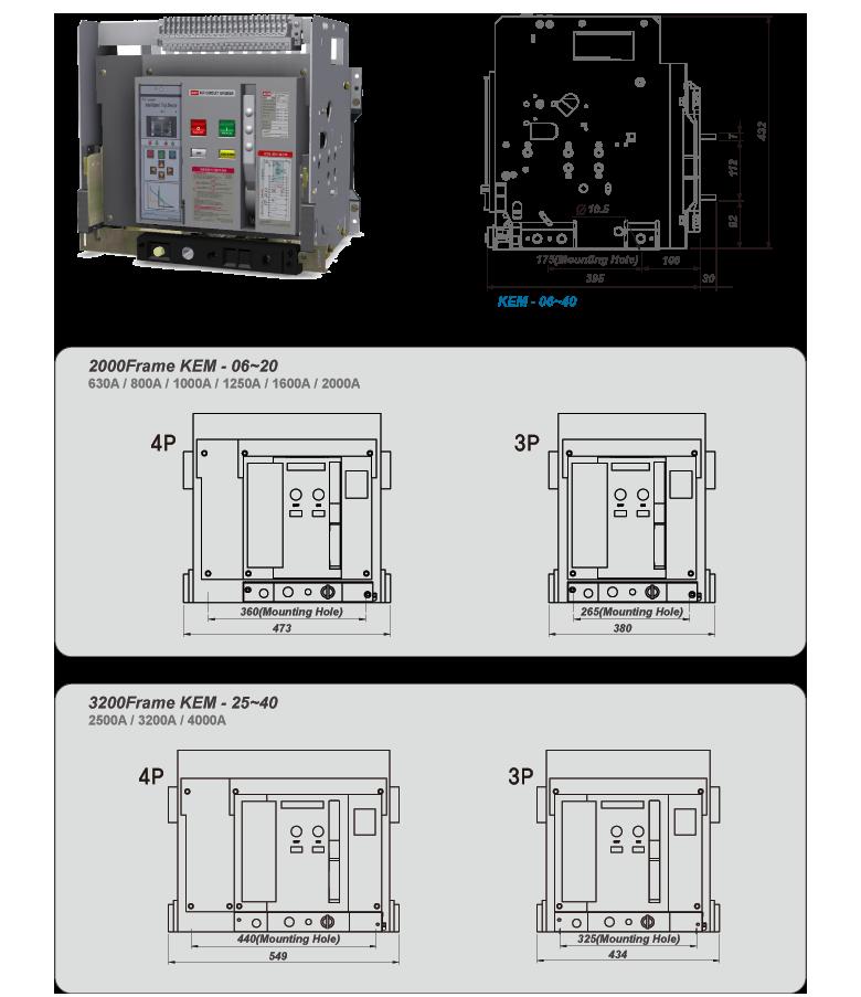 Kisung Electric KEM ACB Fixed KEM-Series 1