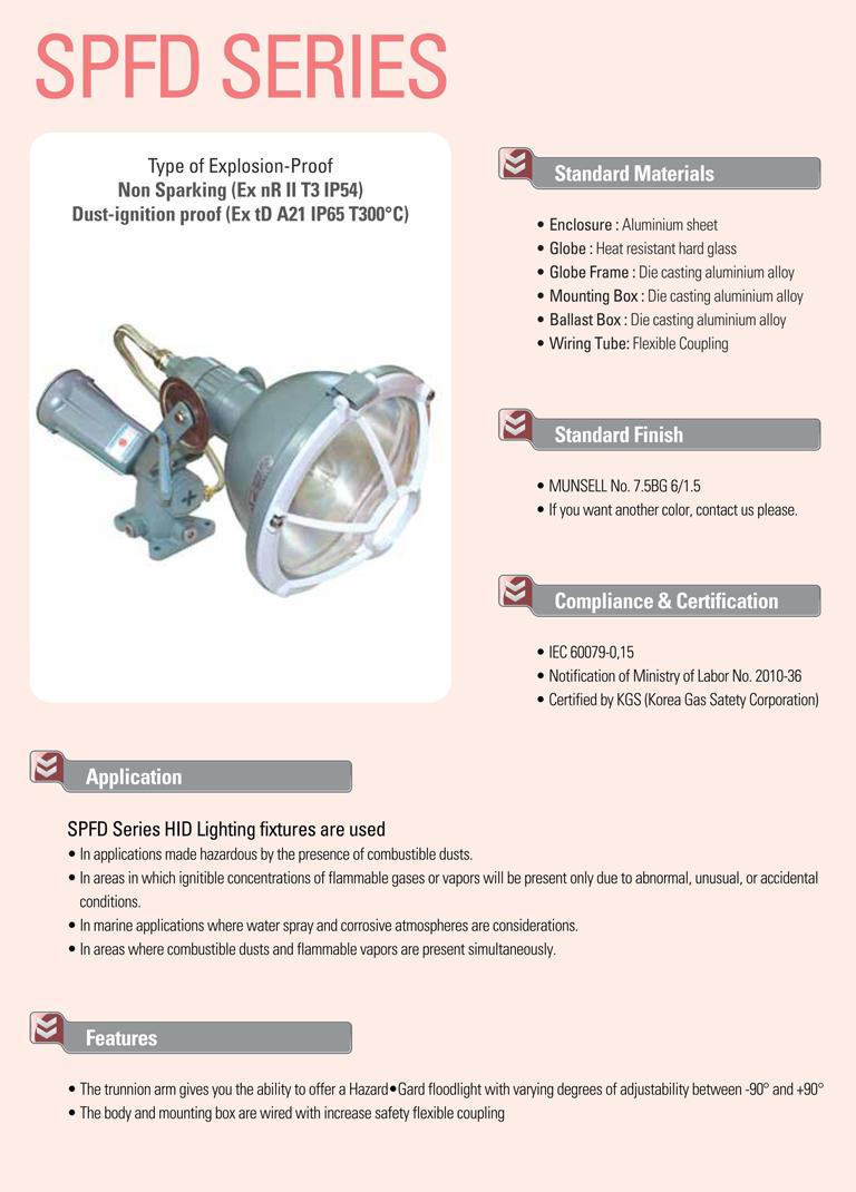 Samik Explosi Onproof Elxctric  SPFD Series