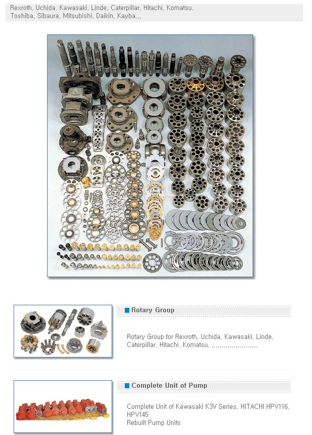Seoul Machinery Hydraulic Pump & Motor Parts