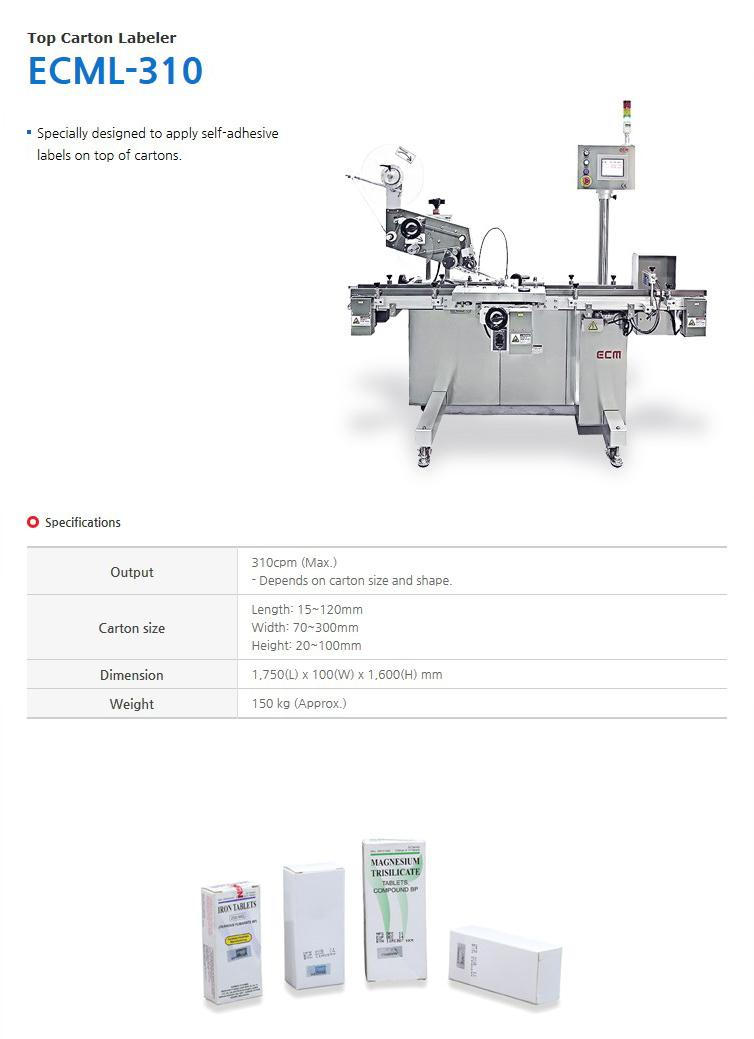 ECM Top Carton Labeler ECML-310