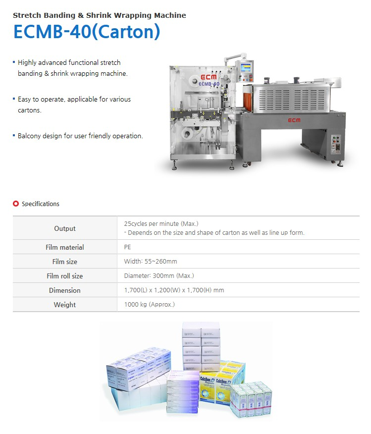 ECM Stretch Banding & Shrink Wrapping Machine ECMB-40 (Carton)