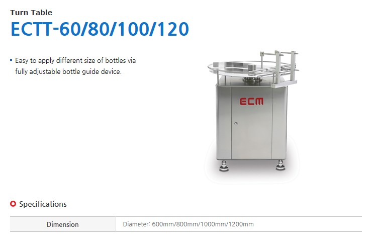 ECM Turn Table ECTT-60/80/100/120