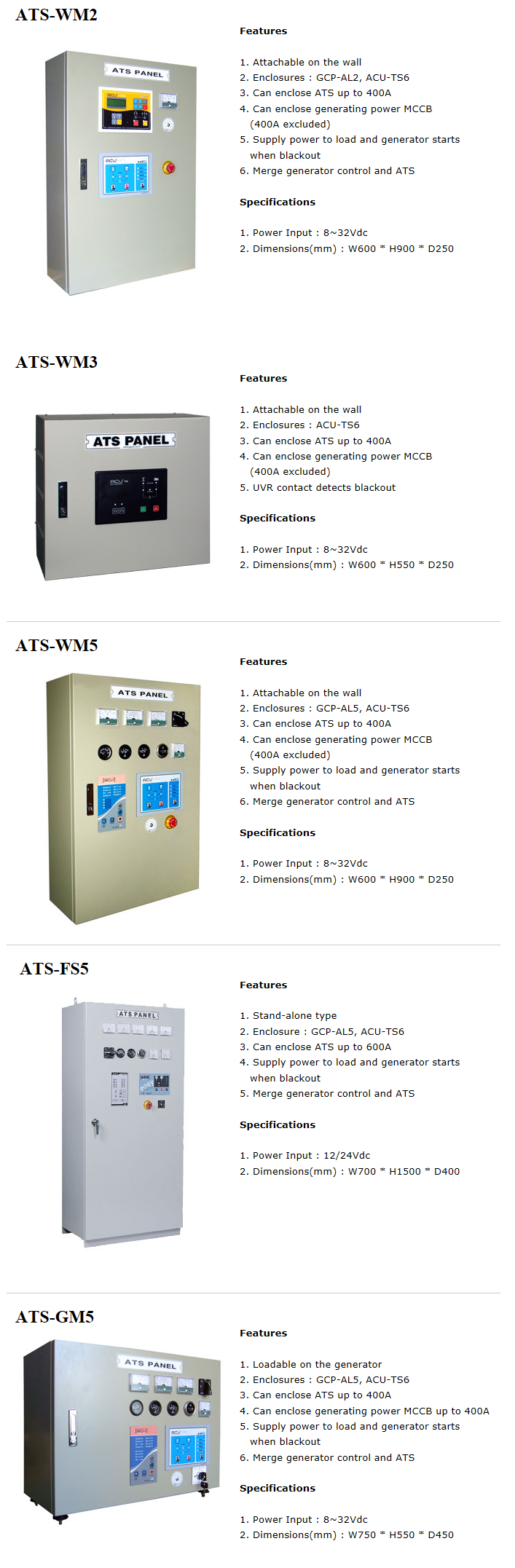 EGCON Automatic Transfer Switch ATS
