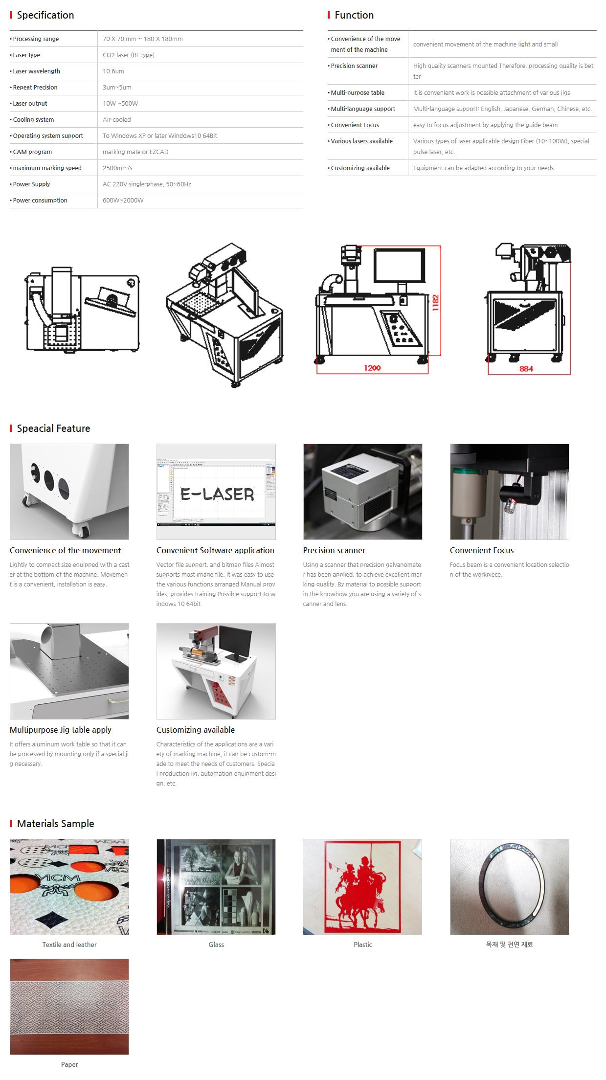 E-LASER CO2 laser EL-MKRF Serise