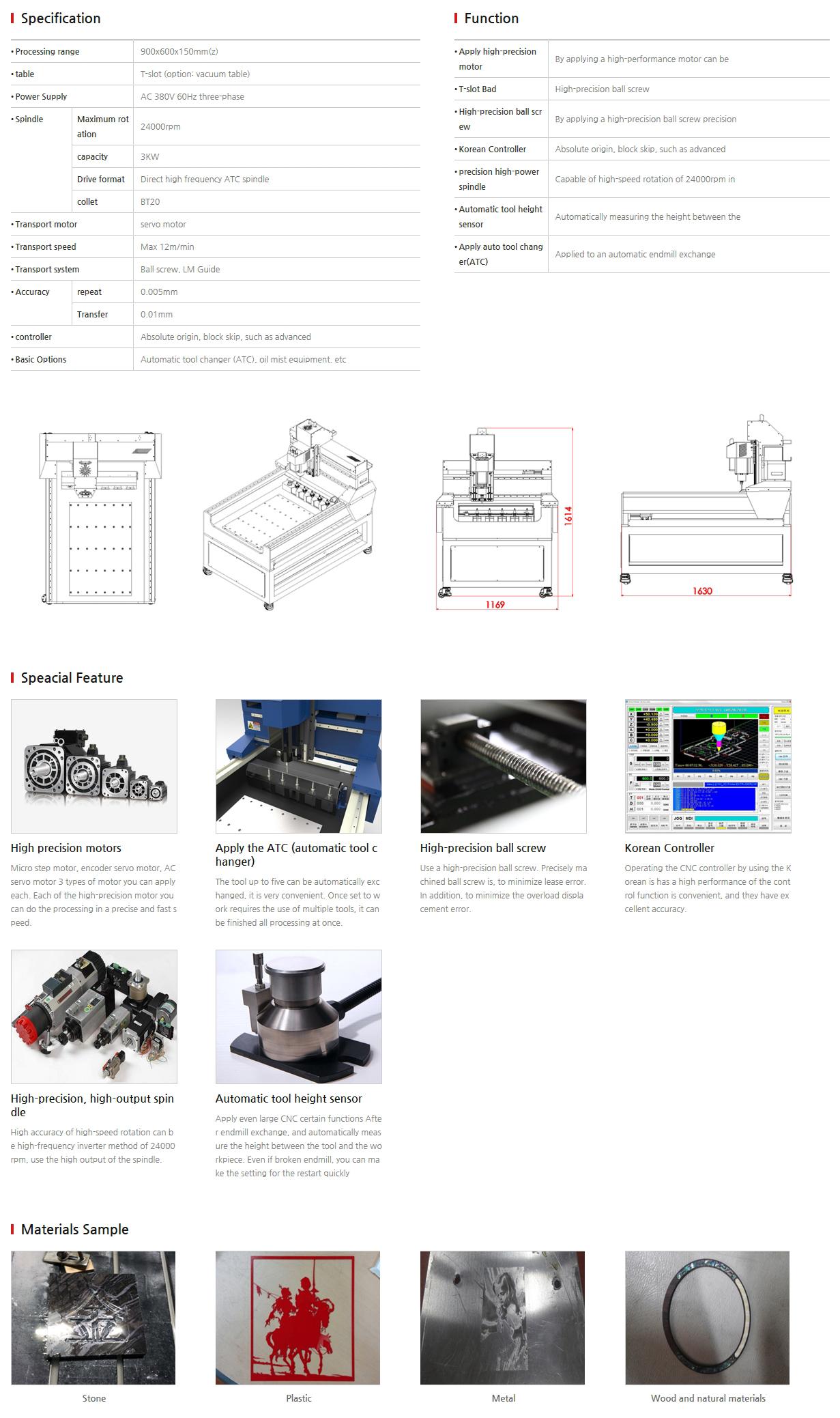 E-LASER CNC EL-9060 G ATC