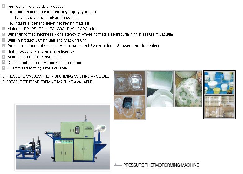 TK TECH Full Automatic Vacuum Thermo-Forming Machine TK-80/40F