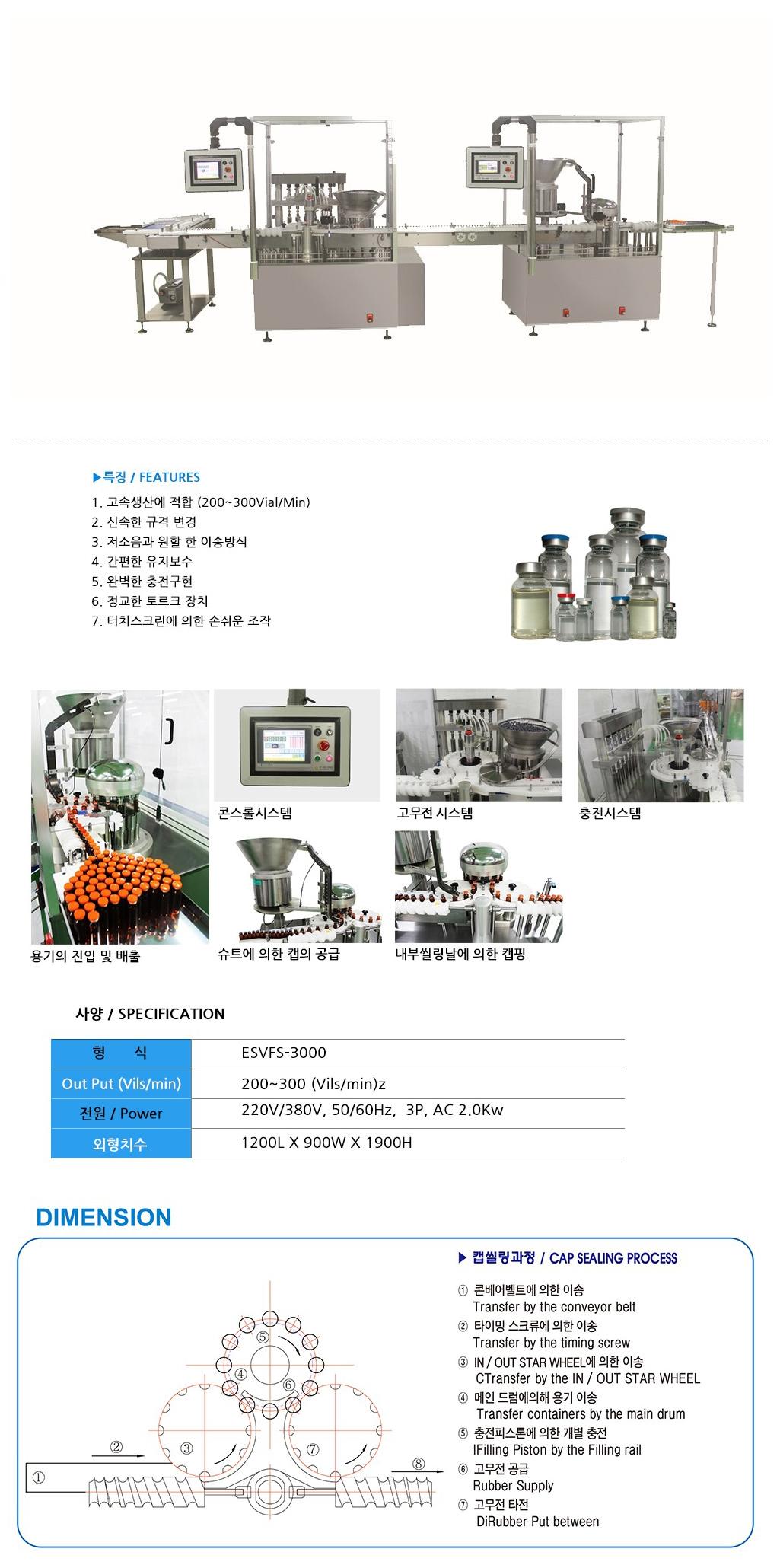 이수이엔지 자동바이알 충전설비 (액상) ESVFS-3000 1