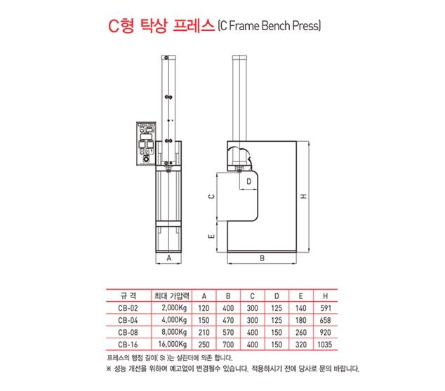 에프이지텍 C형 탁상 프레스 CB Type 1