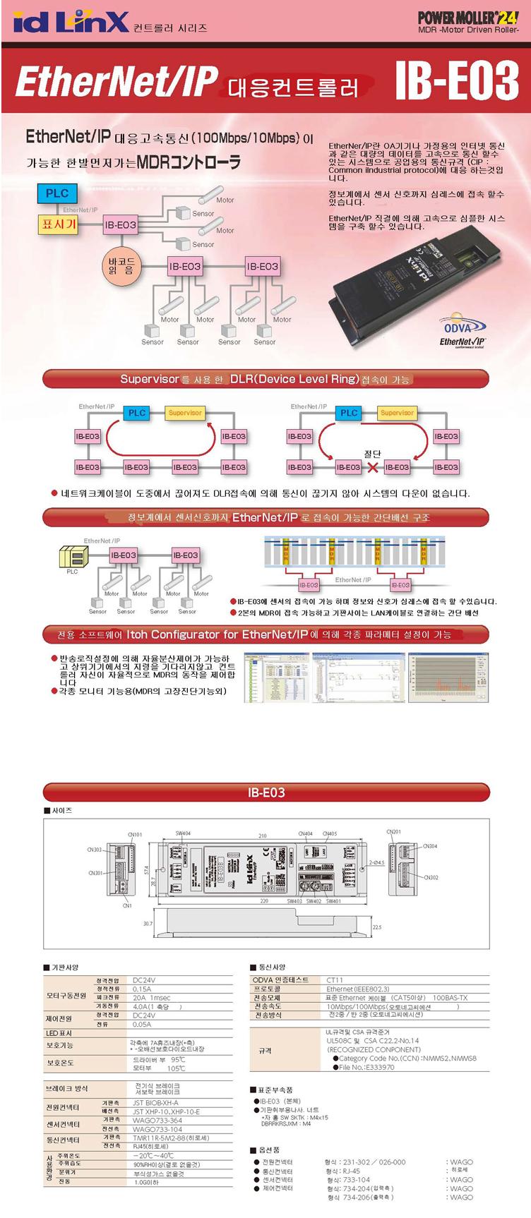 (주)은현산업 EtherNet/IP 대응컨트롤러 IB-E03