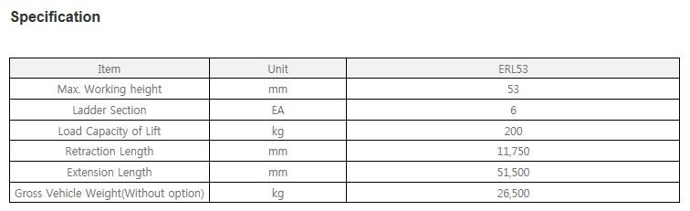 EVERDIGM Aerial Ladder ERL53