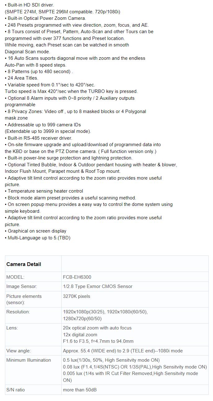 RVT HD SDI PTZ  EZ552HD-SDI