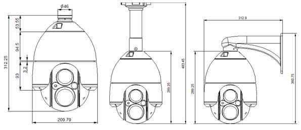 Seyeon Tech PTZ Dome Camera FW7707-FNR 1