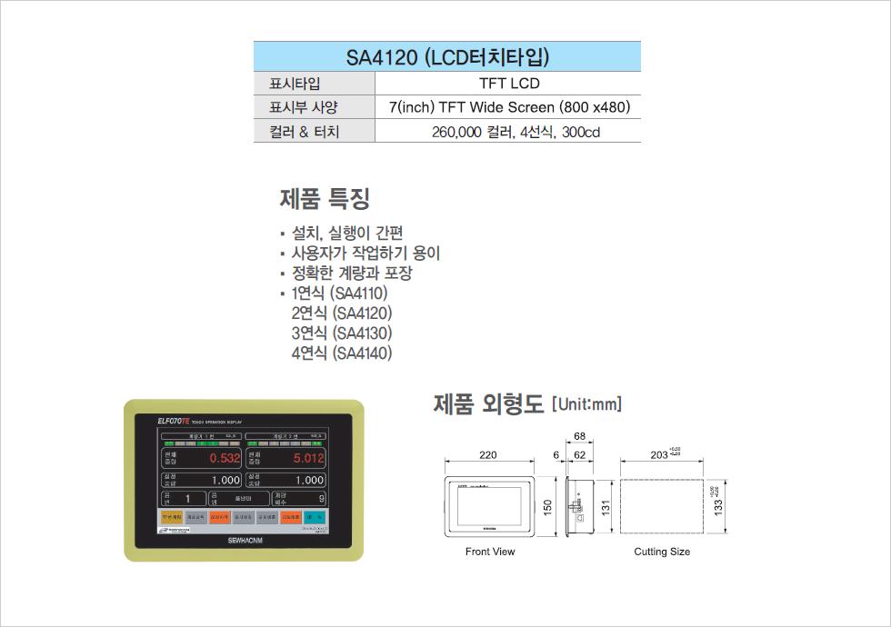 (주)세화씨엔엠 자동포장 콘트롤러 SA4120 1