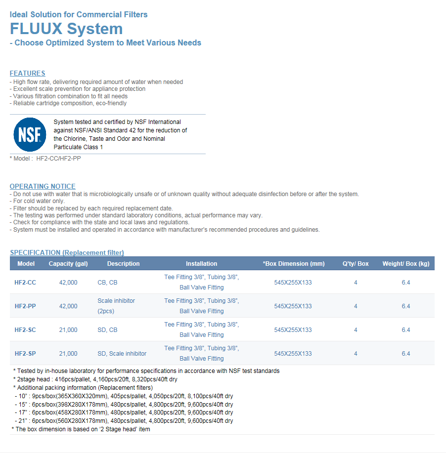 Microfilter Fluux 2 Stage System