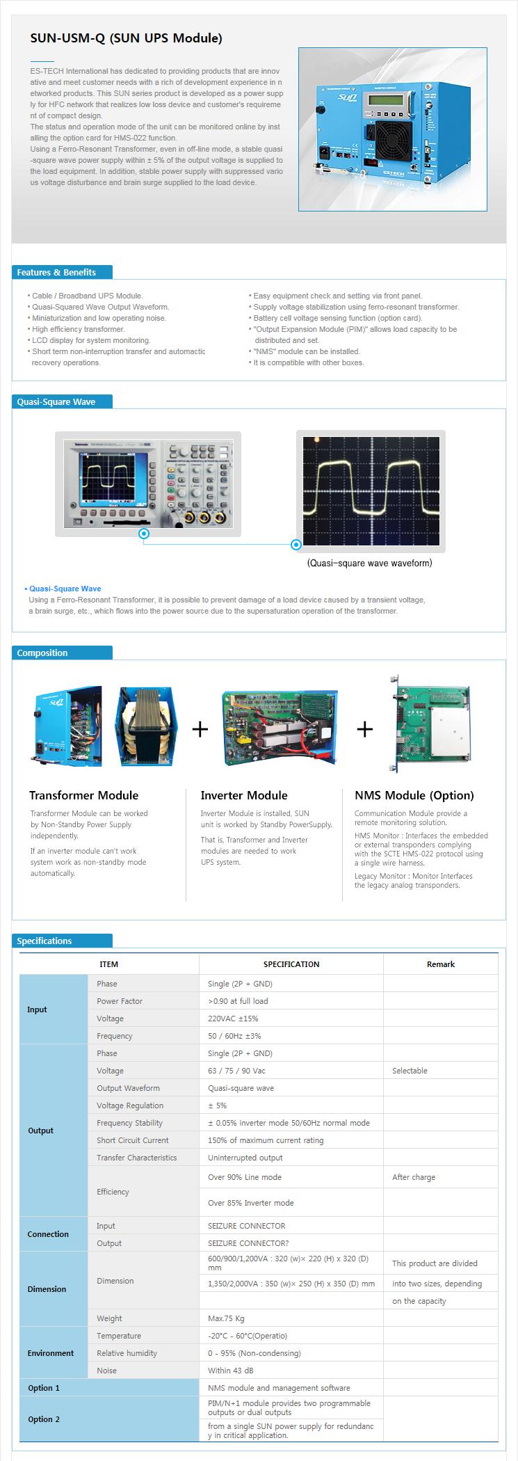 ES-TECH International SUN UPS Module
