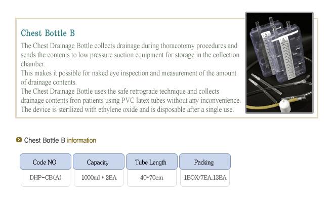 Dongwha-panda Medi-Tech Chest Bottle B DHP-CB(A)
