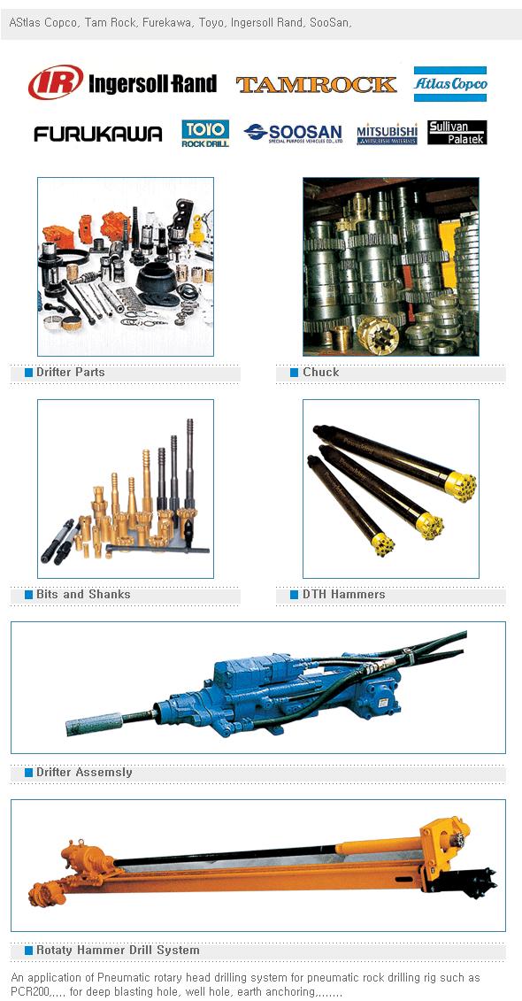 Seoul Machinery Rock Drill Parts