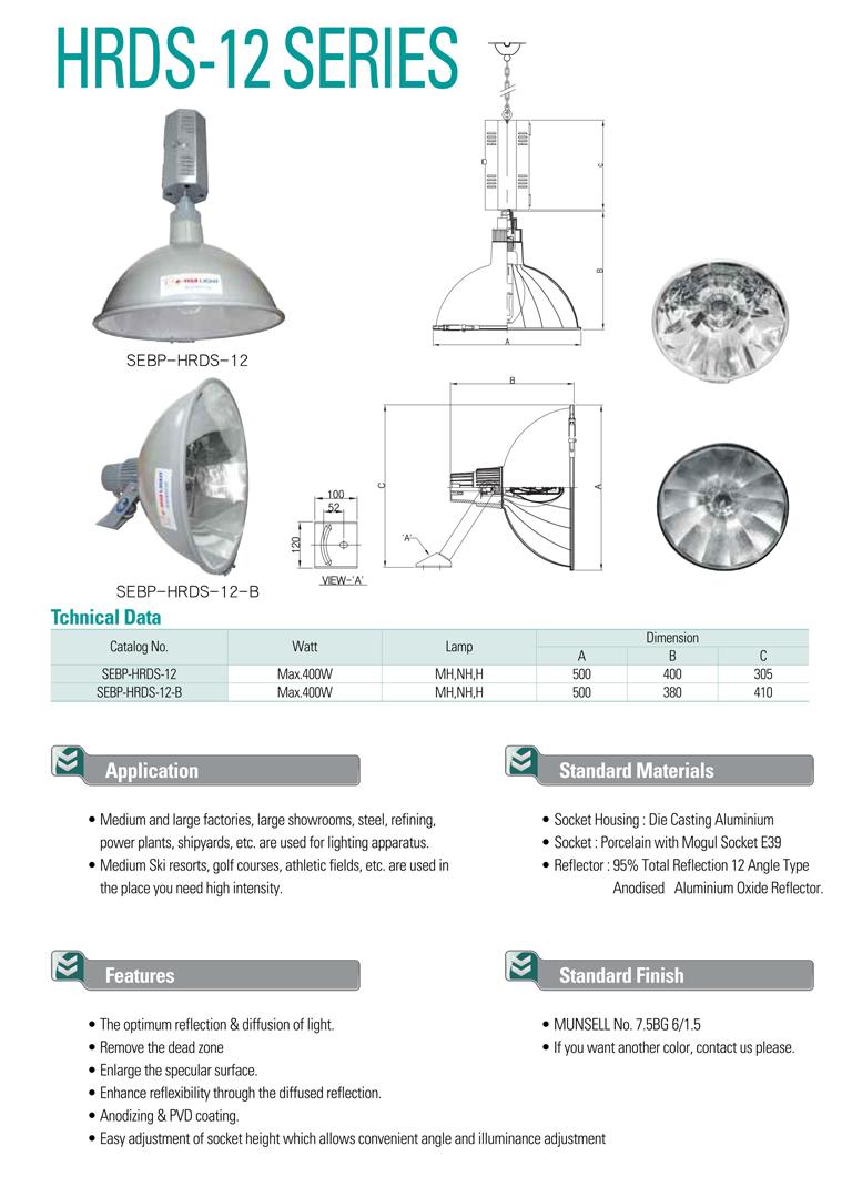 Samik Explosi Onproof Elxctric Flood Light HRDS-12 Series