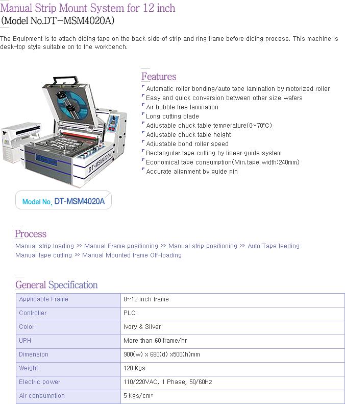 Dynatech Manual Strip Mounter DT-MSM4020A